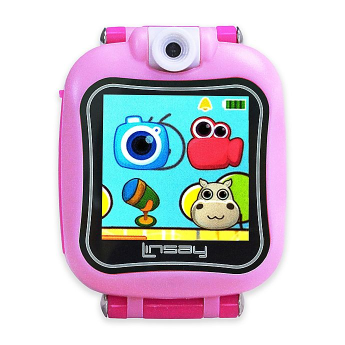 Alternate image 1 for Linsay® S-5WCL Selfie Smart Watch in Pink