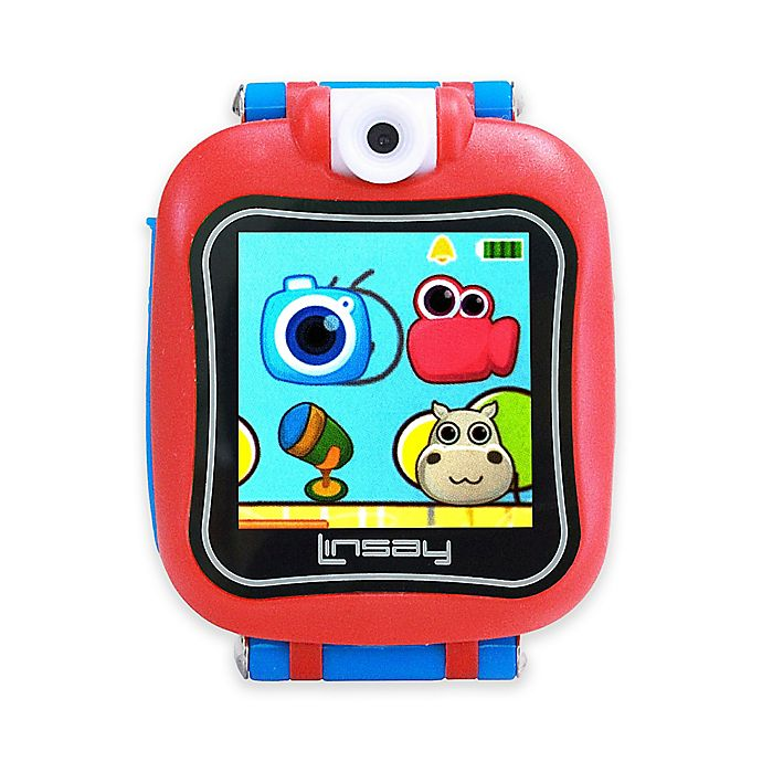 Alternate image 1 for Linsay® S-5WCL Selfie Smart Watch in Blue