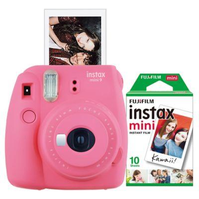 Fujifilm Instax 9 Mini Camera Bundle in Flamingo Pink