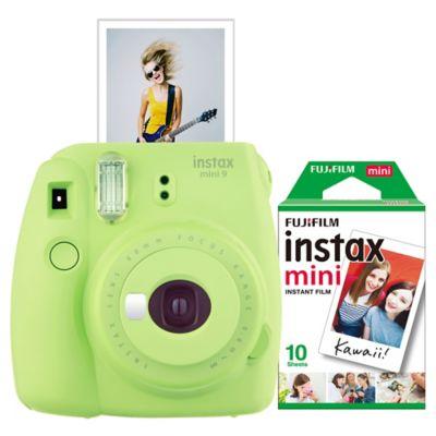 Fujifilm Instax 9 Mini Camera Bundle in Lime Green
