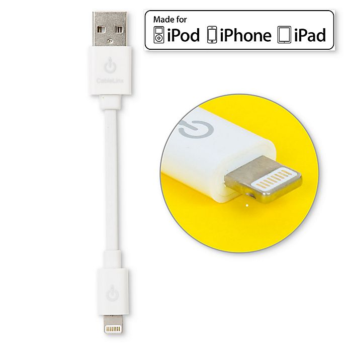 Alternate image 1 for MFi USB Charge and Sync 3.5-Inch Cable with Lightning Connector