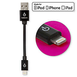 MFi USB Charge and Sync 3.5-Inch Cable with Lightning Connector in Black