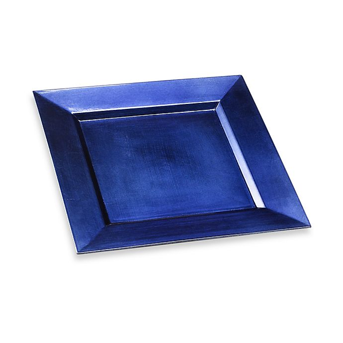 Alternate image 1 for Square 13-Inch Charger Plate in Blue