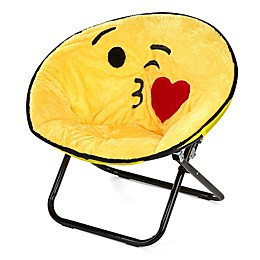 Kissy Emoji Upholstered Saucer Kid's Chair