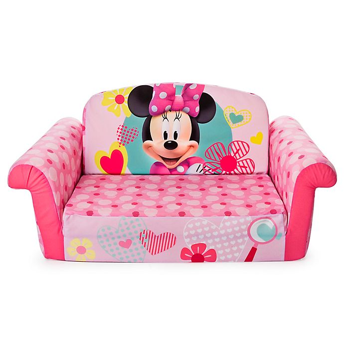 Marshmallow Disney® Minnie Mouse Flip-Open Sofa | buybuy BABY