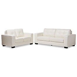 Baxton Studio® Upholstered Tufted Back Recliner Sofa