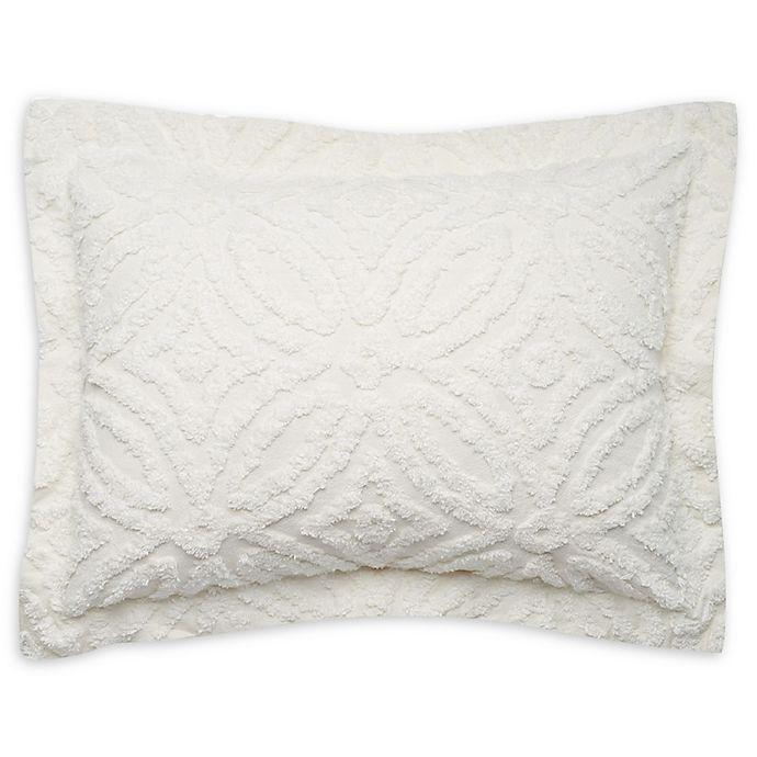 Wedding Ring Chenille Standard Pillow Sham In White Bed Bath Beyond
