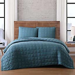 Brooklyn Loom Winston 3-Piece Reversible King Quilt Set in Green