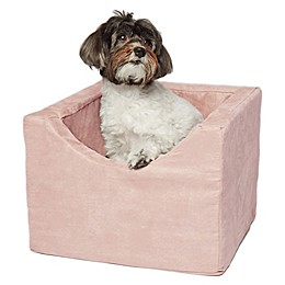 Precious Tails High Density Foam Single Pet Car Booster Seat in Rose