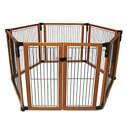 Cardinal Gates® Perfect Fit Pet Gate in Brown/Black