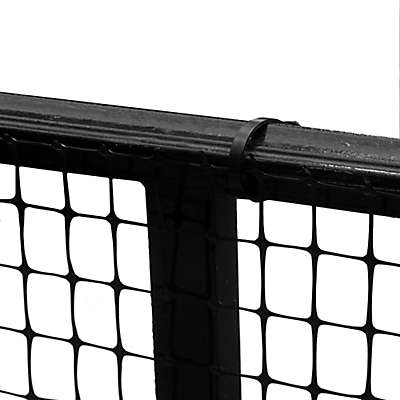 Cardinal Gates Outdoor Deck Safety Netting in Black