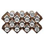 Kamenstein® 14-Jar Wood Criss-Cross Spice Rack in Grey
