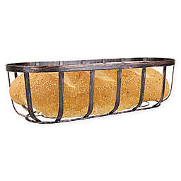 Home Basics® Rustic Oval Metal Bread Basket in Bronze