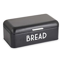 Home Basics Steel Bread Box in Black