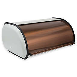 Home Basics® Metal Bread Box in Ivory/Copper
