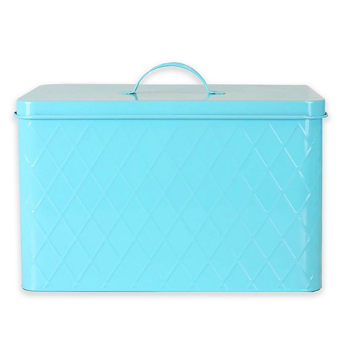 Alternate image 1 for Home Basics Bread Box in Turquoise