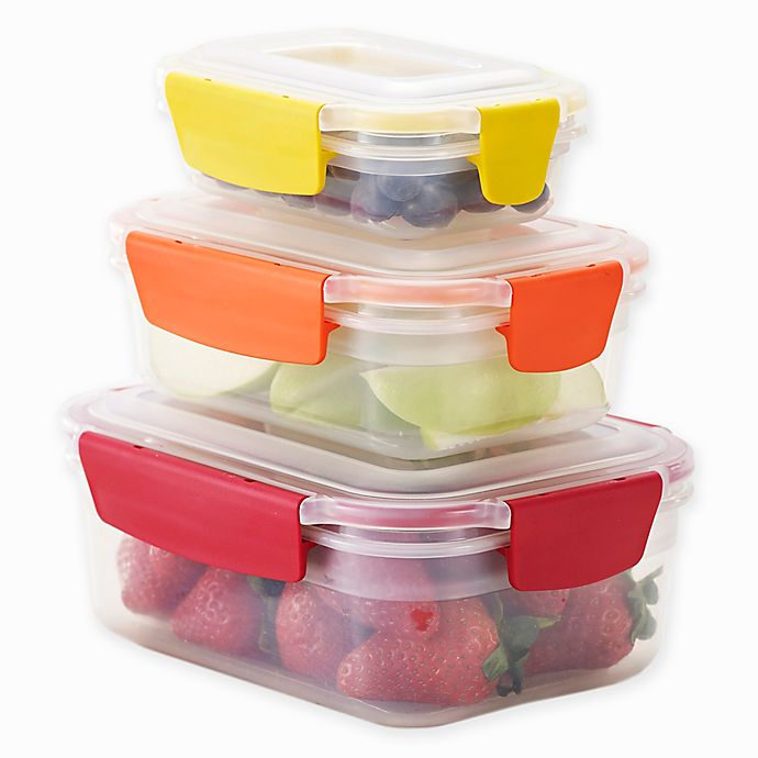 Alternate image 1 for Joseph Joseph® Nest Lock™ 6-Piece Multicolor Food Storage Container Set