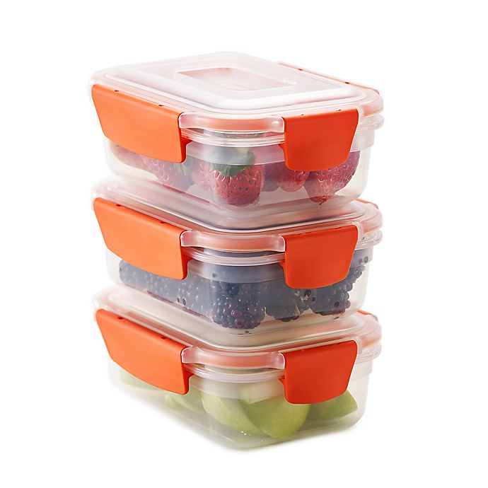 Alternate image 1 for Joseph Joseph® Nest Lock™ 6-Piece 18 oz. Food Storage Set in Orange