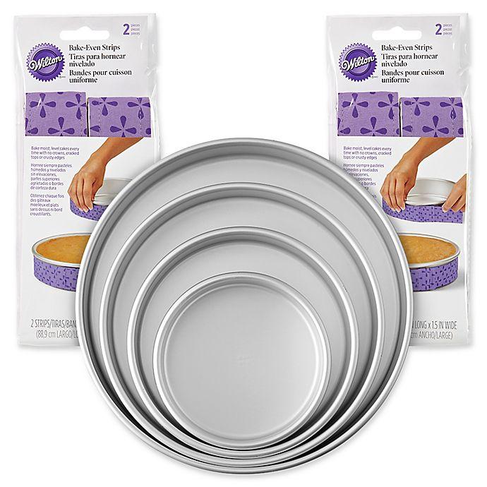 Alternate image 1 for Wilton® 8-Piece Baking Pan and Bake-Even Strips Set