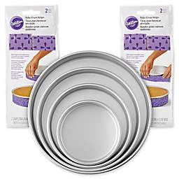Wilton® 8-Piece Baking Pan and Bake-Even Strips Set