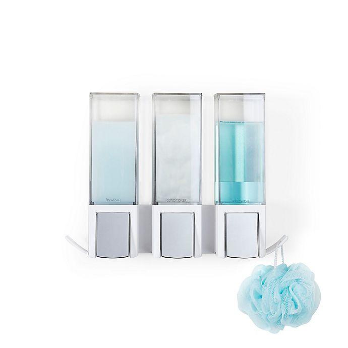Alternate image 1 for Better Living Clever Triple Liquid Dispenser in White/Chrome