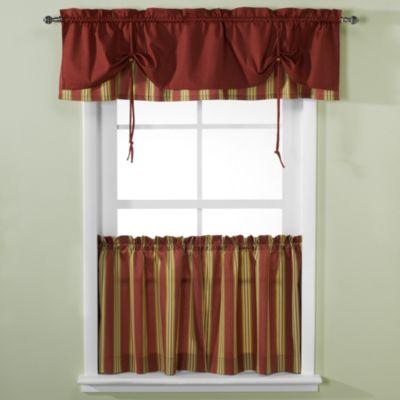 Versa Tie 174 Lisa Stripe Window Curtain Tiers And Valance