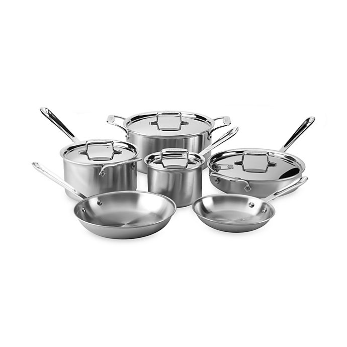Alternate image 1 for All-Clad d5 Brushed Stainless Steel 10-Piece Cookware Set