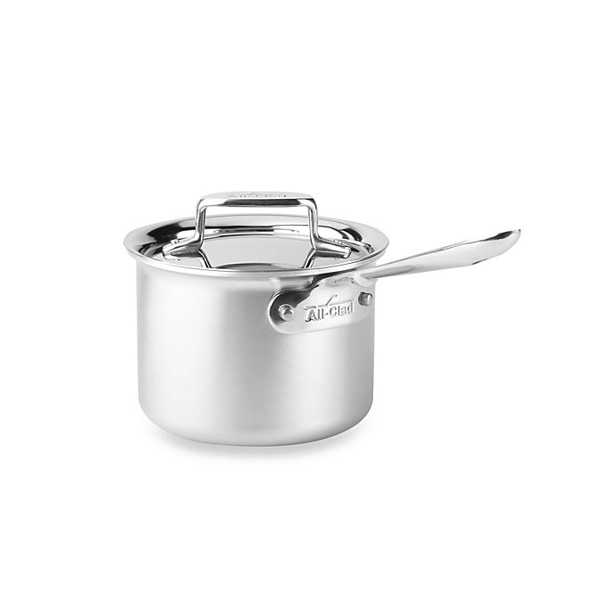 Alternate image 1 for All-Clad d5® Brushed Stainless Steel 2 qt. Covered Saucepan