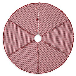VHC Brands Tannen Christmas Tree Skirt in Grey/Red