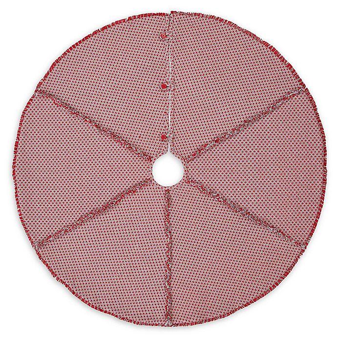 Alternate image 1 for VHC Brands Tannen Christmas Tree Skirt in Grey/Red
