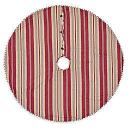 VHC Brands 48-Inch Vintage tripe Mini Christmas Tree Skirt