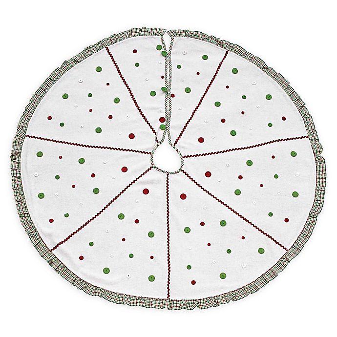 Alternate image 1 for VHC Brands Whimsical Christmas Tree Skirt in White