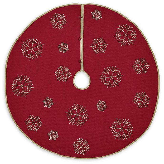 Alternate image 1 for VHC Brands Revelry Christmas Tree Skirt in Red/Tan