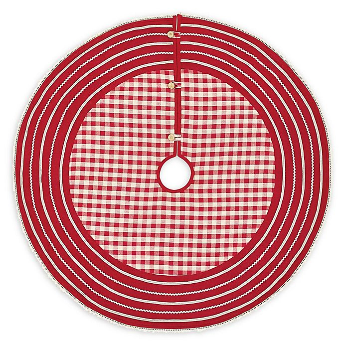 Alternate image 1 for VHC Brands Gretchen Christmas Tree Skirt in Red/White