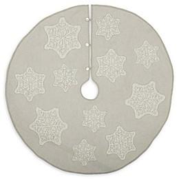 VHC Brands Ingrid Christmas Tree Skirt in Grey/White