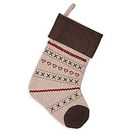VHC Brands Merry Little Christmas Stocking in Khaki
