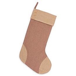 20-Inch Clement Plaid Christmas Stocking