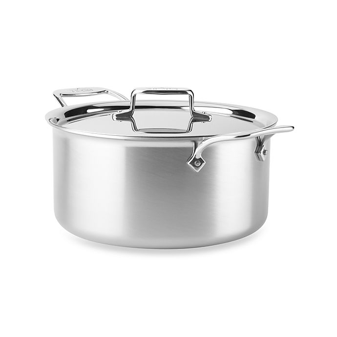 Alternate image 1 for All-Clad d5 Brushed Stainless Steel 8 qt. Covered Stock Pot