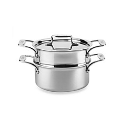 All-Clad d5® Brushed Stainless Steel 3 qt. Covered Casserole and Steamer
