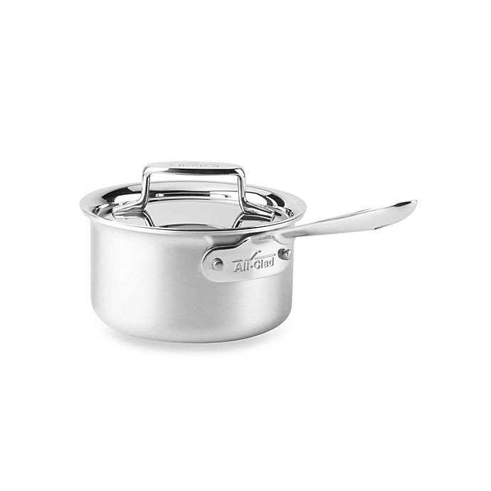 Alternate image 1 for All-Clad d5® Brushed Stainless Steel 1.5 qt. Covered Saucepan