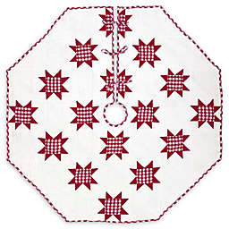 Emmie Red Patchwork Christmas Tree Skirt