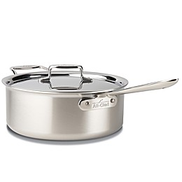 All-Clad d5® Brushed Stainless Steel 6 qt. Deep Covered Sauté Pan