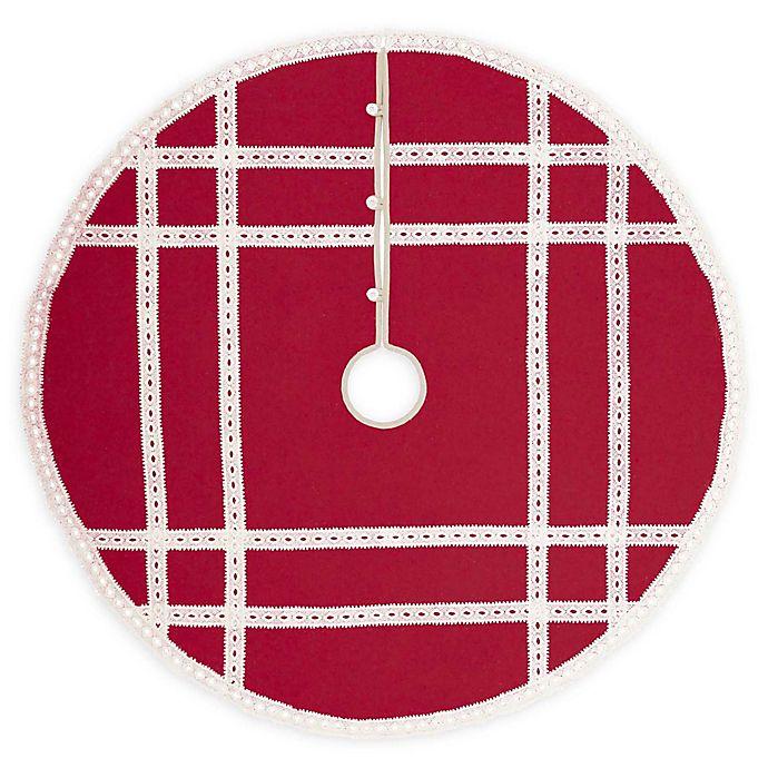 Alternate image 1 for Margot 48-Inch Christmas Tree Skirt in Red