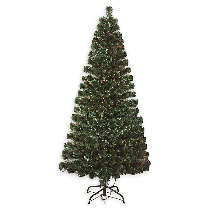 Alternate image 1 for Perfect Holiday 4-Foot Pre-Lit Fiber Optic Artificial Christmas Tree