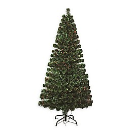 Perfect Holiday Pre-Lit Fiber Optic Artificial Christmas Tree