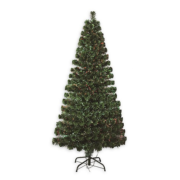 Alternate image 1 for Perfect Holiday Pre-Lit Fiber Optic Artificial Christmas Tree