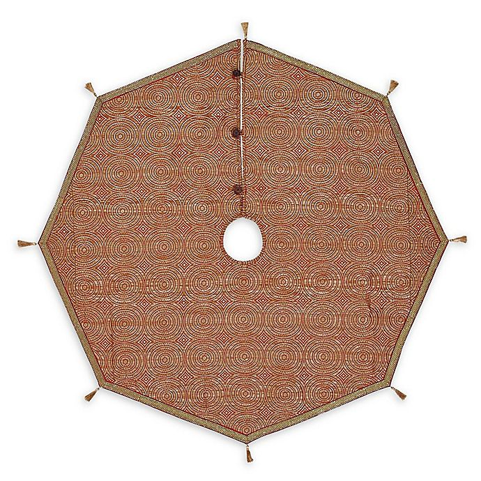 Alternate image 1 for Soleil 48-Inch Christmas Tree Skirt in Red/Bronze