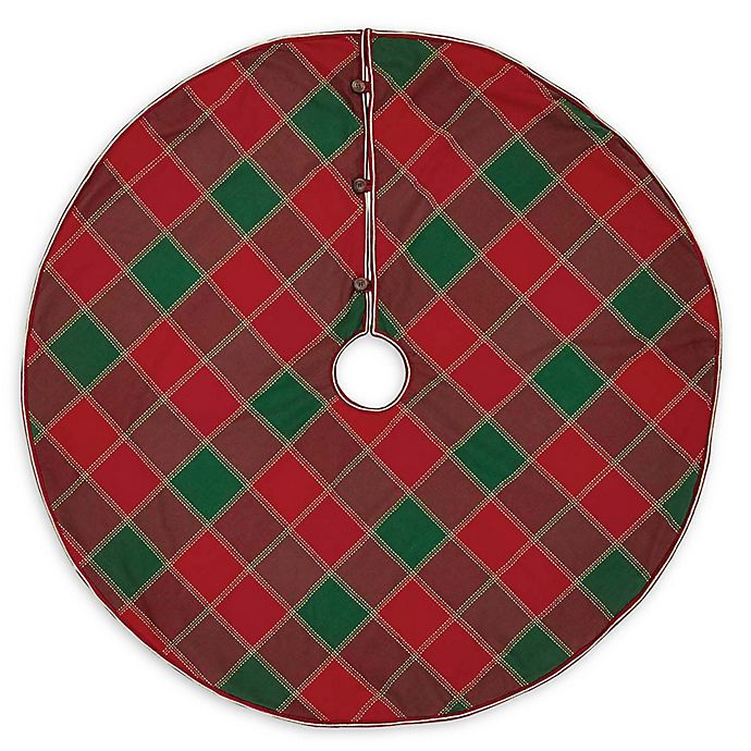 Alternate image 1 for Tristan 48-Inch Christmas Tree Skirt in Red/Green