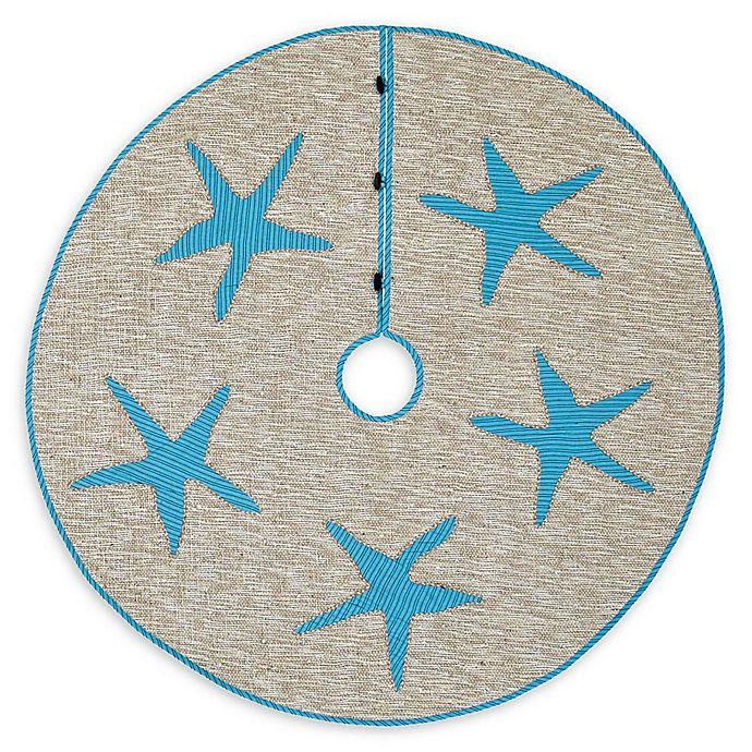 Alternate image 1 for 48-Inch Nerine Tree Skirt in Blue