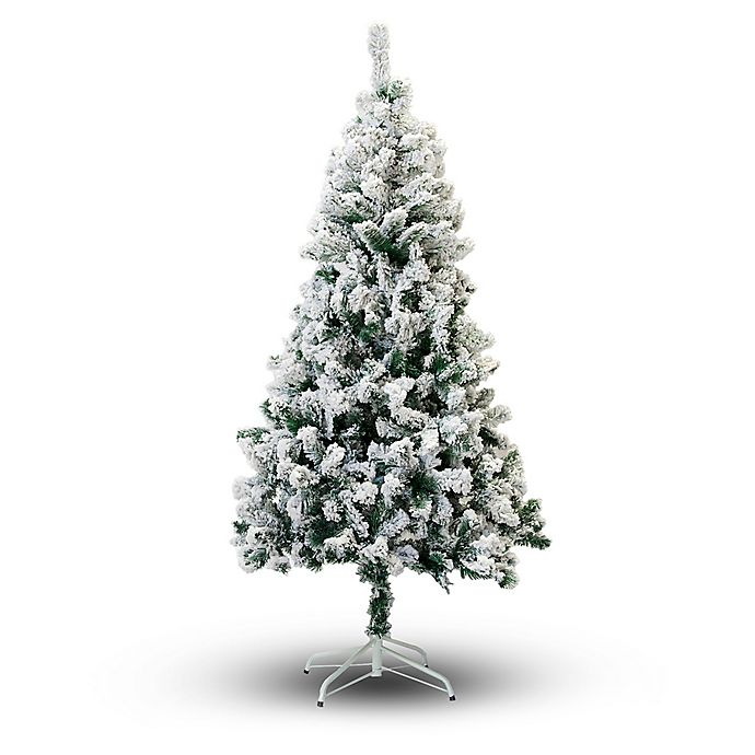 Alternate image 1 for Perfect Holiday Flocked Snow Artificial Christmas Tree
